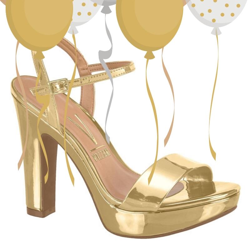 2725-95-002 - goudkleurige sandaal met stevige hak voor gala of feest