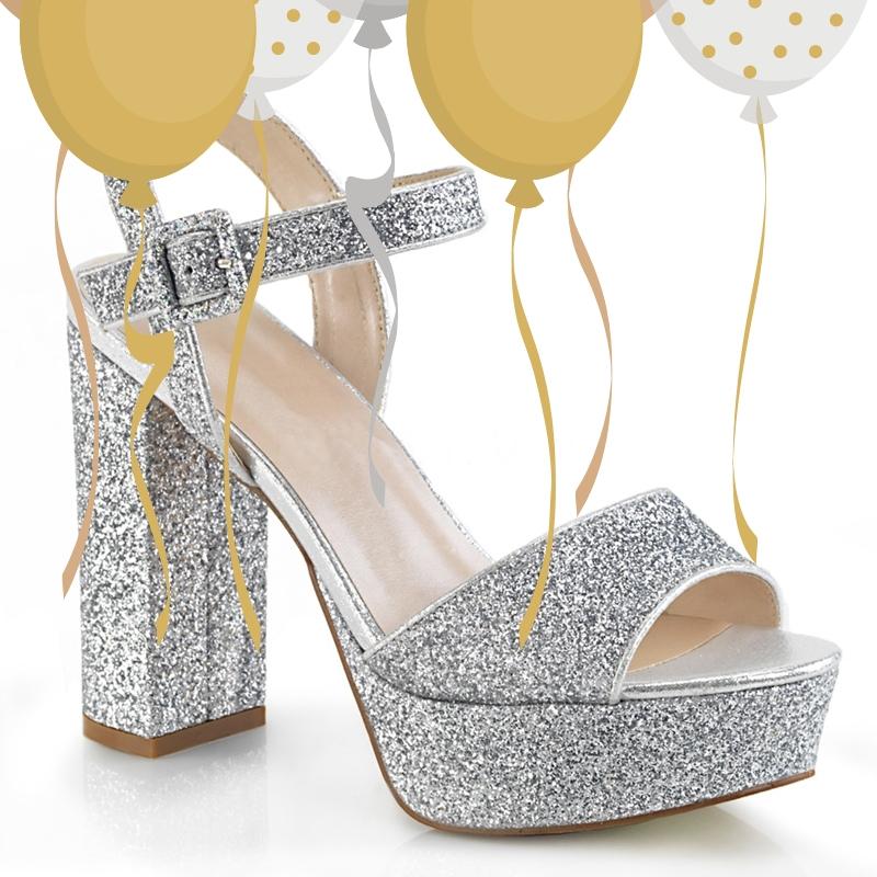 2725-98-003 - zilveren glitterhakken voor gala