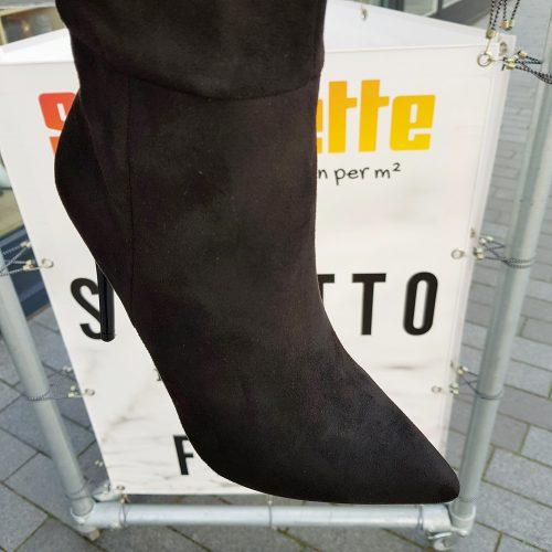 Laars tot de knie met stiletto hak | Kniehoge laarzen met naaldhak en puntneus