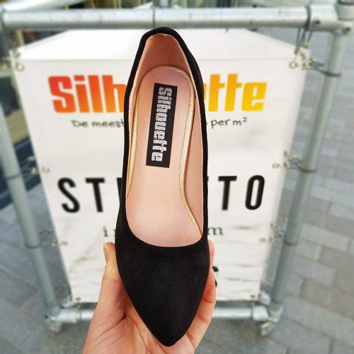 Zwarte pumps met plateau kleine schoenmaat | Kleine maat pumps met plateau en hak