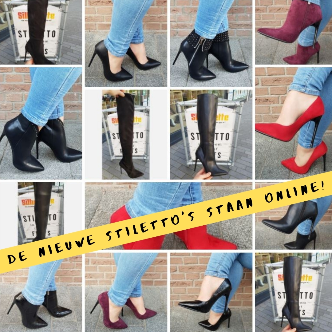 De nieuwe stilettohakken staan online