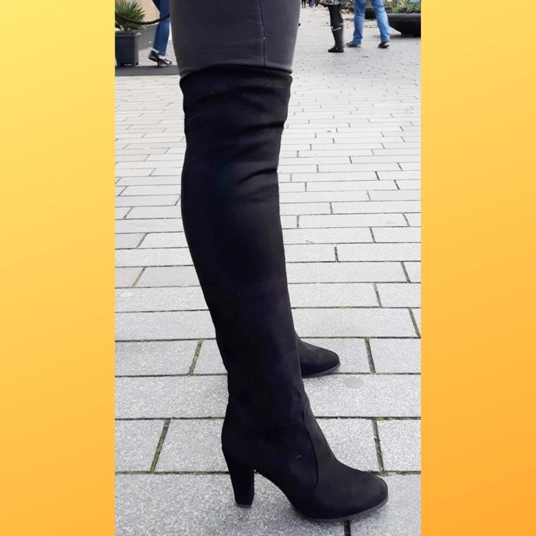 Stretch overknee laarzen voor dikke kuiten en dunne benen (3)