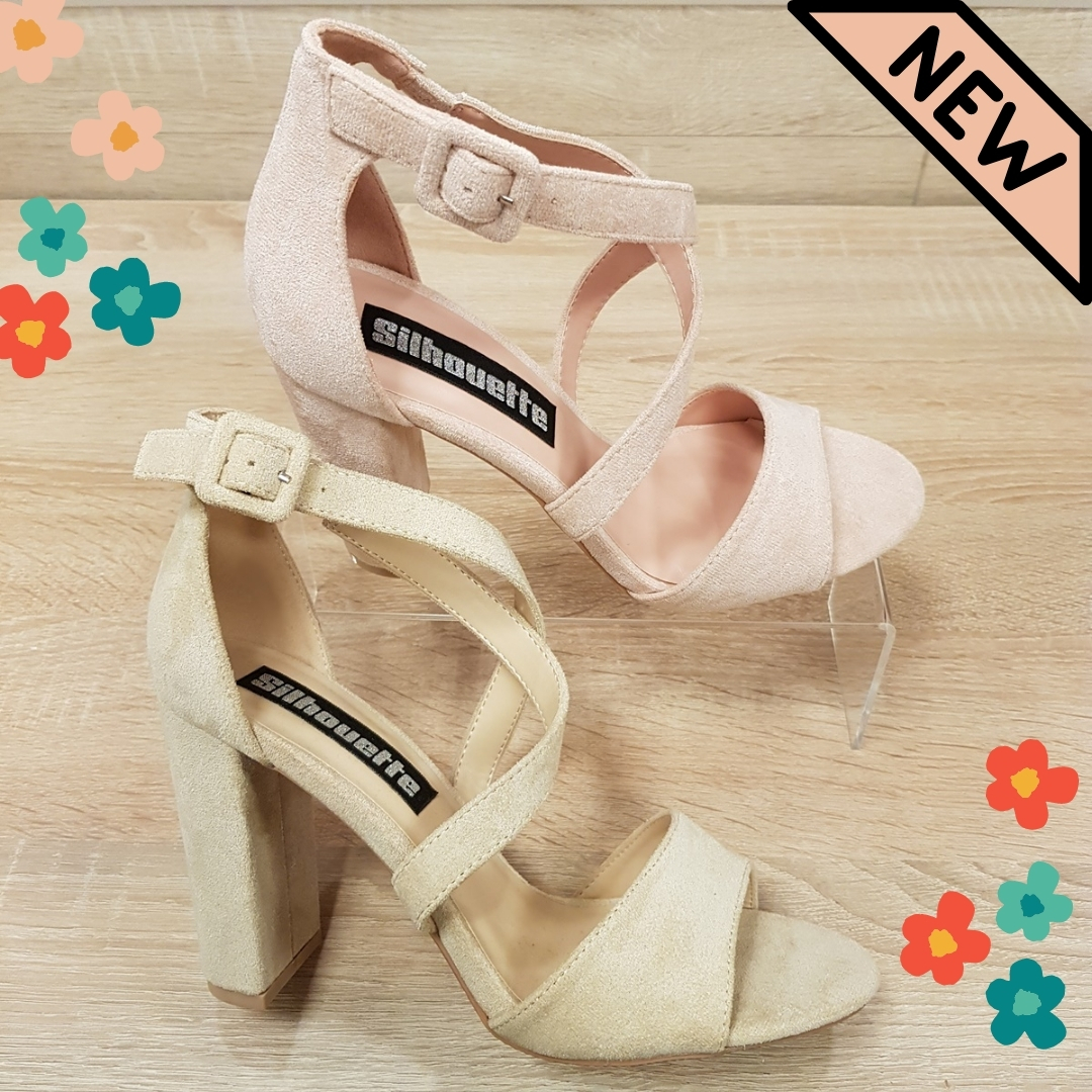 Blokhak sandalen nieuwe kleuren