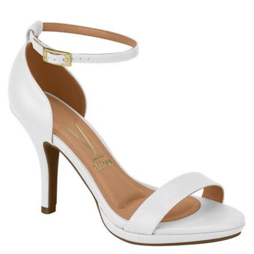 Witte sandaaltjes met hak en enkelbandje Vizzano | Witte Vizzano-sandaaltjes met naaldhak