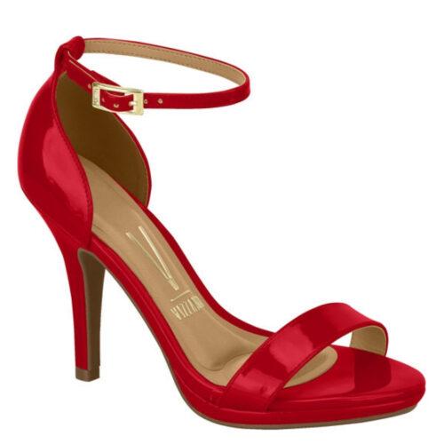 Rode sandaaltjes met hak en enkelbandje Vizzano | Rode Vizzano-sandaaltjes met naaldhak
