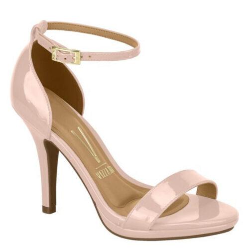 Lichtroze sandaaltjes met naaldhak en plateautje | Roze Vizzano-sandaaltjes met hak