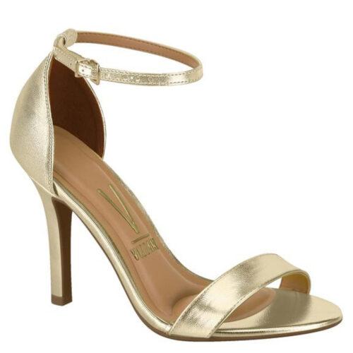 Gouden open schoentjes met naaldhak Vizzano | Vizzano-sandaaltjes met naaldhak in goud